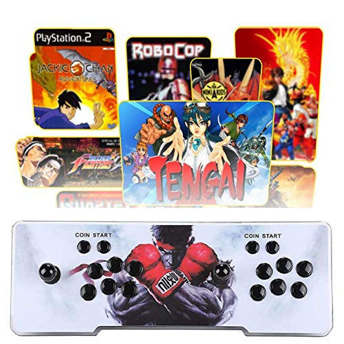 Vemac 3D Pandora Box add Additional Games with Full HD Arcade Console Upgraded CPU 2 Players Pandoras Box 9s Video Game Console with Arcade Joystick Support HDMI VGA USB (2400in1) (Black) (3d Video Games)