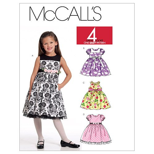 72582ec22 McCall s Patterns M5795 Children s Girls  Lined Dresses and Sash ...