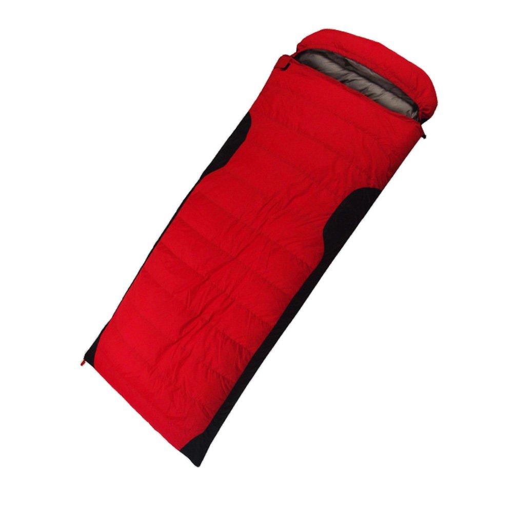 (シカリン) CIKRILAN アウトドア 封筒型 シュラフ 耐寒 防災 冬用 コンパクト キャンプ 登山 シュラフ グースダウン スリーピングバッグ B0725YBS8V レッド Goose Down(1200g) Goose Down(1200g)|レッド