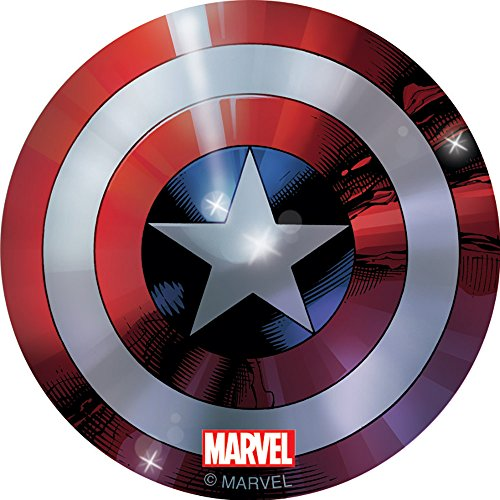 Radical Shield - Captain America Foil Shield Stickers - Birthday Party Supplies & Favors - 50 per Pack