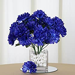 Efavormart 84 Artificial Chrysanthemum Mums Balls for DIY Wedding Bouquets Centerpieces Party Home Decoration Wholesale - Navy Blue