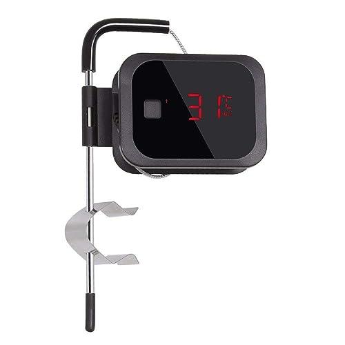 Inkbird Bluetooth 40 Grill IBT-2X Grill BBQ Kochthermometer Küche Fleischthermometer mit Temperaturalarm Schwarz IBT-2X - 1 Sonden