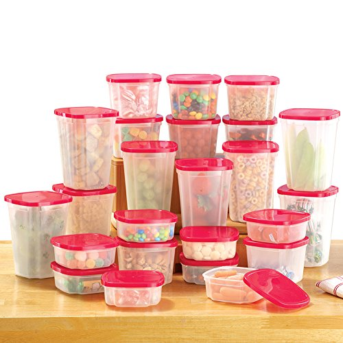 - Rotating Plastic Food Storage Container System for Kitchen - 49PC