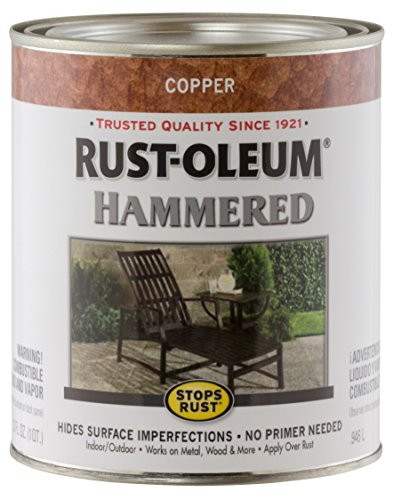 Rust-Oleum 239074 Hammered Metal Finish, Copper, 1-Quart (Packaging may - Paint Copper
