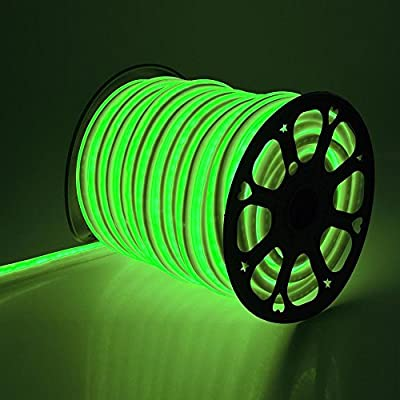CHIMAERA 150ft 110V Green Flexible LED Neon Rope Light Indoor Outdoor Holiday Valentines Party Decor Lighting