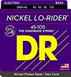 DR Strings Nickel Lo-Rider - Nickel Plated Hex Core Bass 45-105
