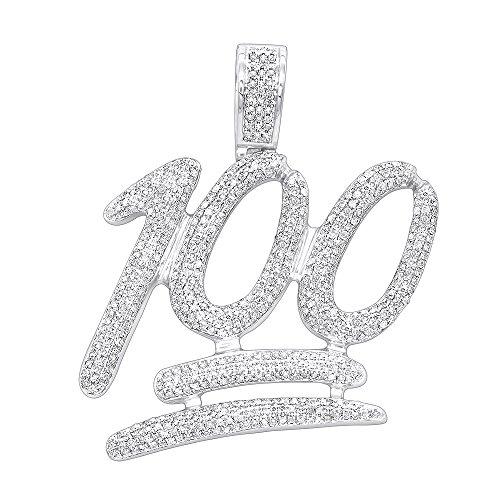 Men's Real 10K Rose, White or Yellow Gold 100% Large Diamond Pendant 1.75ctw (White Gold) ()