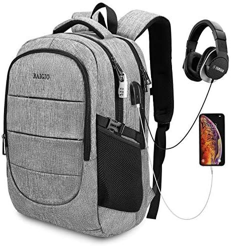 Laptop Backpack for Men,Travel Business Backpack,Water Resistant College School Back Pack Bag Fits 17 In Laptop,Grey
