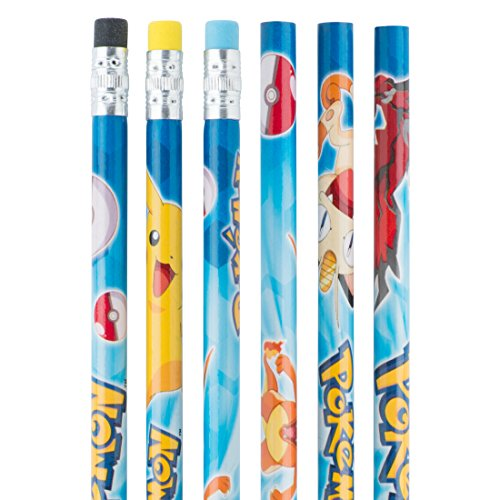 Pokemon & Pikachu Pencils - Children's School Supplies - 36 per Pack