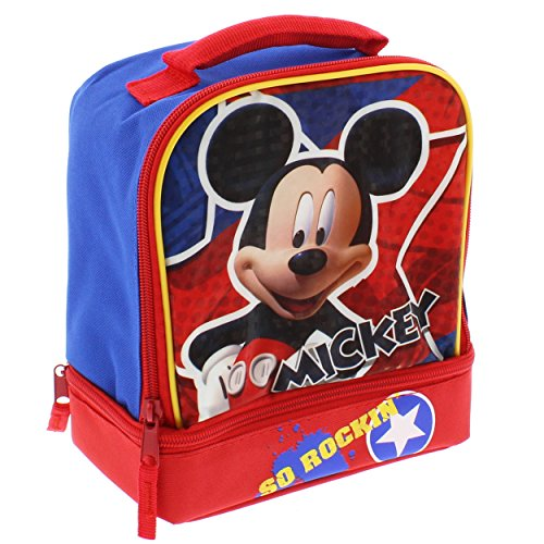 Mickey Mouse Dual Compartment Lunch Box (So Rockin Blue/Red)