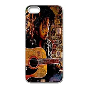 wugdiy Custom Case for iPhone 5,5S with Personalized Design Bob Marley