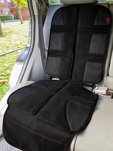 Car Seat Protector for Child Seats - Premium - Protects Car Upholstery from Child Seats, Dirt and Stains - Universal Size - Thick Material - Non-Slip Backing - Mesh Pockets - Easy Cleaning.: Amazon.co.uk: Baby