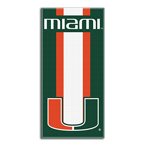 Northwest NCAA Miami Hurricanes  Beach Towel,  30 x 60-inch