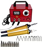 ELEOPTION Crafts Gourd Wood Multifunction Pyrography Machine Heating Kit Tool with Accessories 220V (100W)