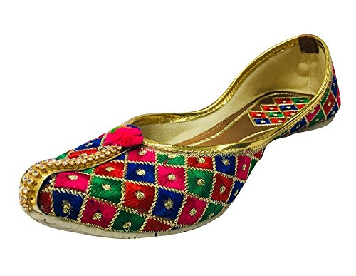 Step N Style Flat Jooti Zapatos Indios Phulkari Jutti Salwar Kameez Jutti Saree Jutti