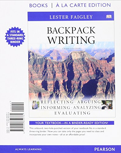 Backpack Writing, Books a la Carte Plus MyCompLab with eText -- Access Card Package (3rd Edition)
