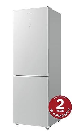 glass front fridge. Russell Hobbs White Glass Front Fridge Freezer RH60FF186WG, 60 Cm Wide, 297L Capacity,