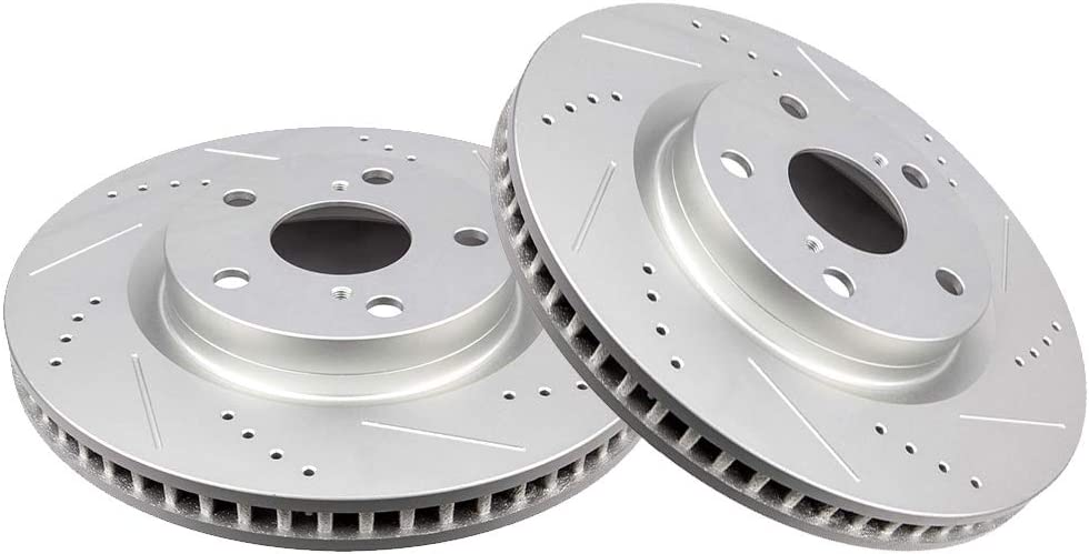 OE Replacement Rotors Ceramic Pads F+R 2007 2008 2009 2010 Toyota Camry