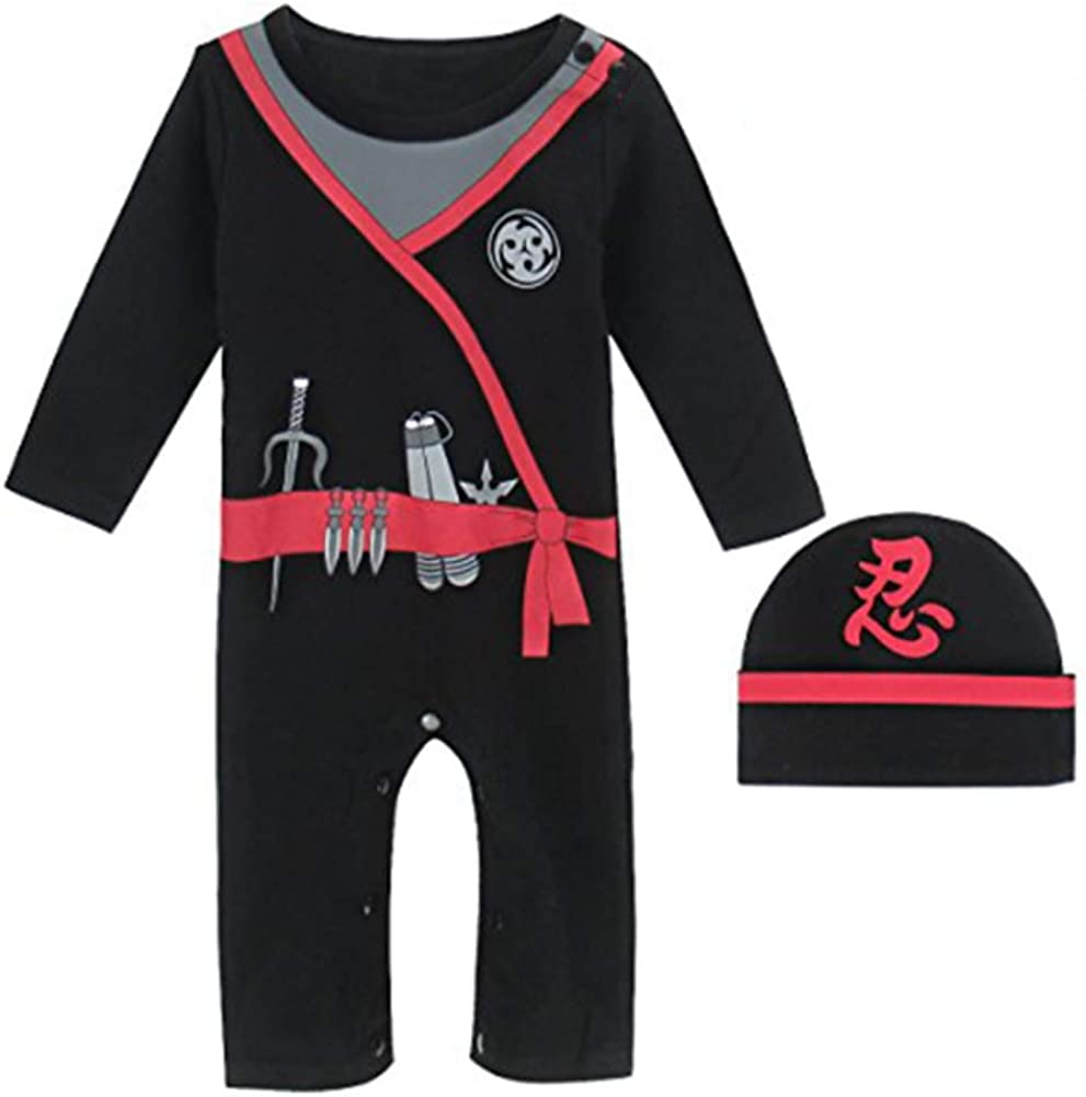 MOMBEBE COSLAND Baby Boys Romper Carnival Costume with Hat