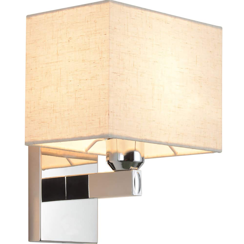 Lampade da parete paralume in tessuto bianco Applique da ...