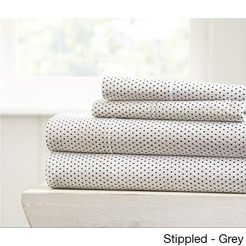MISC 3 Piece Grey Polka Dot Pattern Sheet Twin Set White Cream Spot Theme Bedding Feminine Ivory Beautiful Pearl Dots Round Circle Pattern Polka-Dots, Polyester