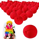 80 Pieces Red Clown Noses Foam Clown Noses Cosplay Red Clown Nose for Halloween Christmas Costume Party