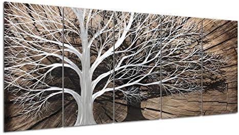 Yihui Arts Handmade 3D Tree Metal Wall Art Decor Shadow Designs Idea