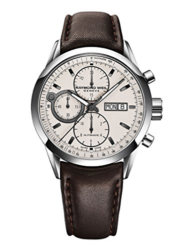 raymond-weil-mens-freelancer-swiss-automatic-stainless-steel-and-leather-dress-watch-colorbrown-mode
