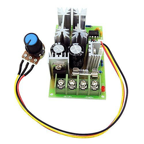 uniquegoods 12V 24V 36V 48VDC 20A 500W (Max) Universal DC Motor Speed Controller PWM Adjustable Speed Driver Module without Switch L0577 by uniquegoods