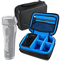 Protective EVA Shaver / Sharing Case (in Blue) - Compatible with Braun Series 5 5040s Shaver with Flex MotionTec Travel Pouch- by DURAGADGET