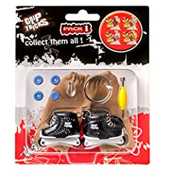 The Finger Roller Pack 1 contain : 1 pair of Finger Roller Freestyle + 1 Finger pants + 4 extra wheel + 1 tool. You can use the tool to remove the wheels and put the one you want to customized your Roller. Made in strong PVC and metal, you ca...