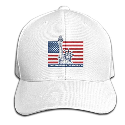 MZ-HY New York City and Statue of Liberty USA Flag Casual Baseball Hat Fashion Dad Cap Adjustable for Running Workouts Trucker Cap]()