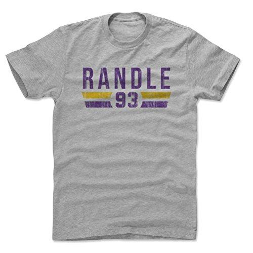 - 500 LEVEL John Randle Cotton Shirt X-Large Heather Gray - Vintage Minnesota Football Men's Apparel - John Randle Font P