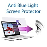 Anti Blue light screen protector (2 pack) for Surface Book. Filter out Blue Light and relieve computer eye strain to help you sleep better