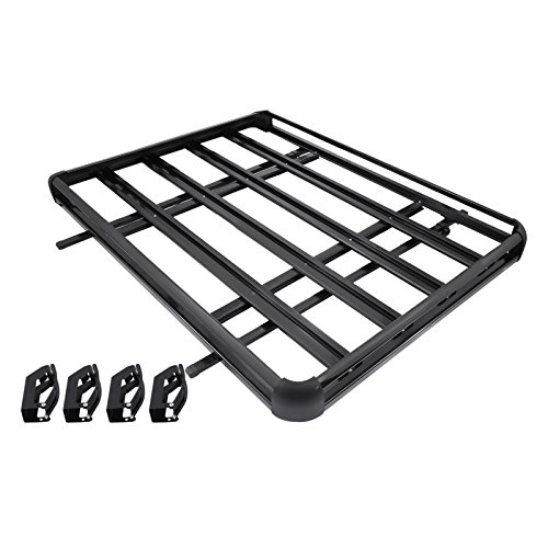 High Quality Mophorn Roof Basket Universal Aluminum Roof Rack Basket 64x40 Inch Roof  Mounted Cargo Rack For Car Top ...