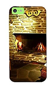 Premium Tpu Christmas Fireplace Cover Skin Series For Iphone 5c