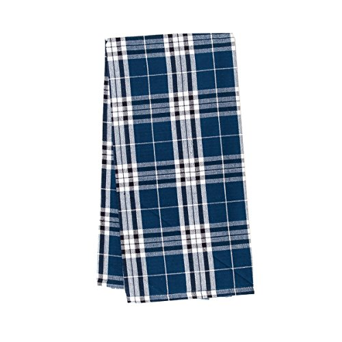 (C&F Home Max Plaid Navy Blue Patriotic 4th of July Memorial Day Labor Day Americana Liberty Woven Kitchen Towel Kitchen Towel Navy)