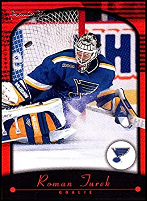 ab1e6b943 2000-01 Topps Premier Plus  55 Roman Turek NM-MT St. Louis Blues Official NHL  Hockey Card