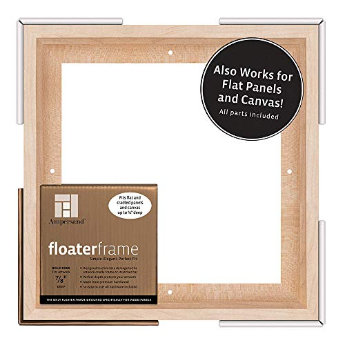 Ampersand Floaterframe for Wood Panels, 7/8 Inch Depth, Bold, 10x10 Inch, Maple (FBOLD781010M)