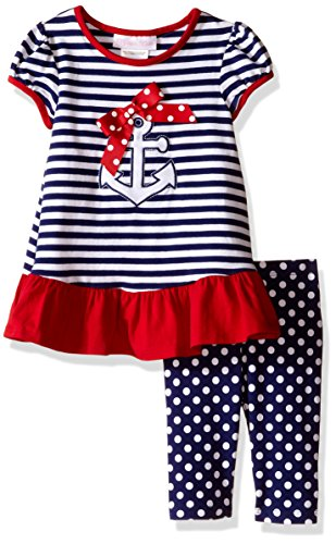 Bonnie Baby Baby Anchor Knit Playwear Set, Navy, 24 Months (Nautical Sweatpants)