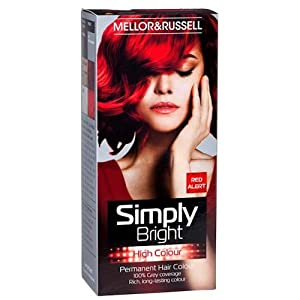 2 x Simply Bright Red Alert High Colour Permanent Hair Dye: Amazon ...