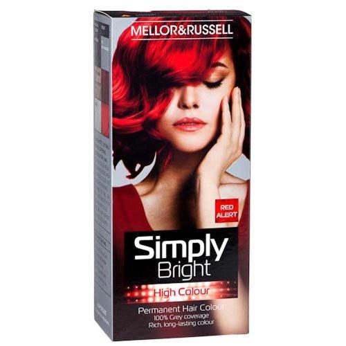 2 X Simply Bright Red Alert High Colour Permanent Hair Dye Amazon