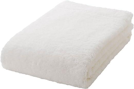 MUJI Toalla de baño de algodón orgánico, tamaño pequeño, Grosor Medio, 60 x 120 cm, Color Blanco: Amazon.es: Hogar