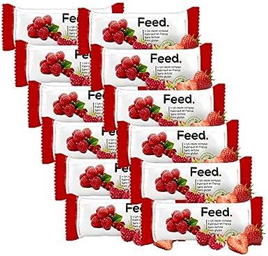 Feed. Pack de 12 Barritas Frutos Rojos - Comida Completa - 100% Vegana - Sin Lactosa - Sin Gluten - Sin OGM - 100g (Frutos Rojos): Amazon.es: Alimentación y bebidas