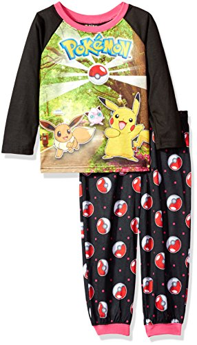 Pokemon Girls' 2-Piece Pajama Set Photo