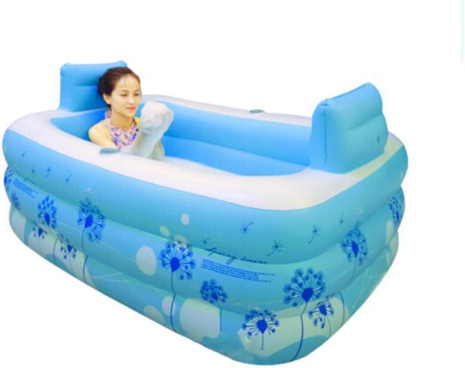 2 in 1 Inflatable Adult PVC Warm Bath Bathtub Foldable Indoor SPA Bathroom