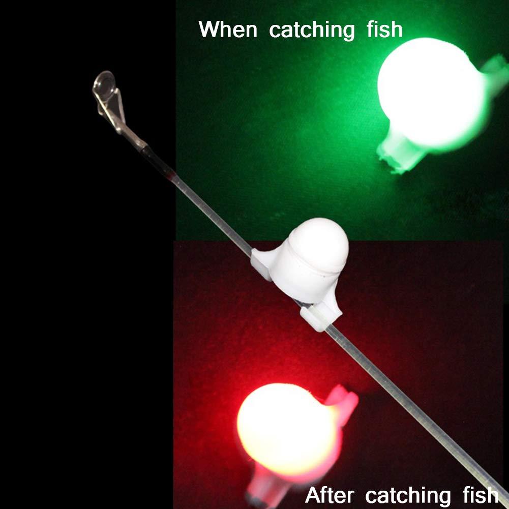 Fishing Rod Sensor Led Light Night Fishing Strike Alert Fishing Bite Alarm Set Fishing Tackle