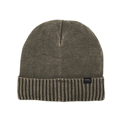 Levi's Men's Knit Cuff Beanie with Woven Label, Olive, One Size -