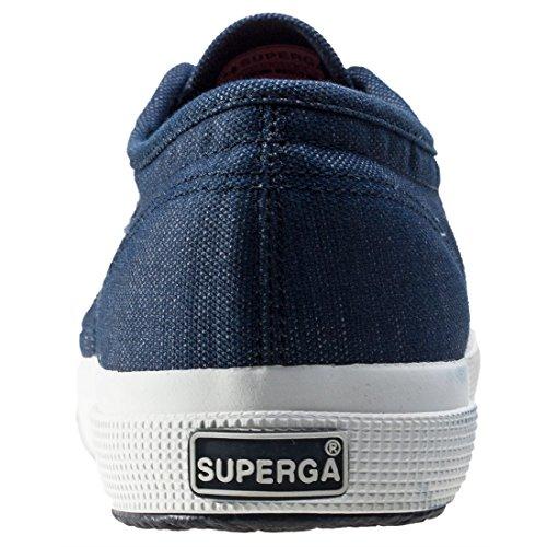 Superga 2750-Italianshirt Cotm, Zapatillas de Estar por Casa para Hombre Azul