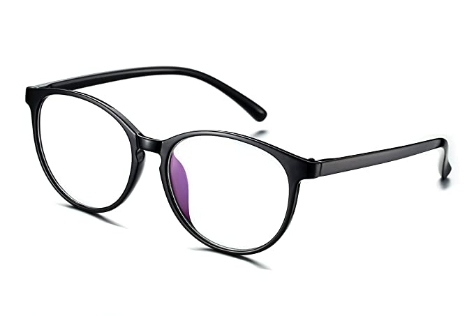 Amazon.com: PenSee Oversized Oval Circle Glasses Frames Clear Lens ...